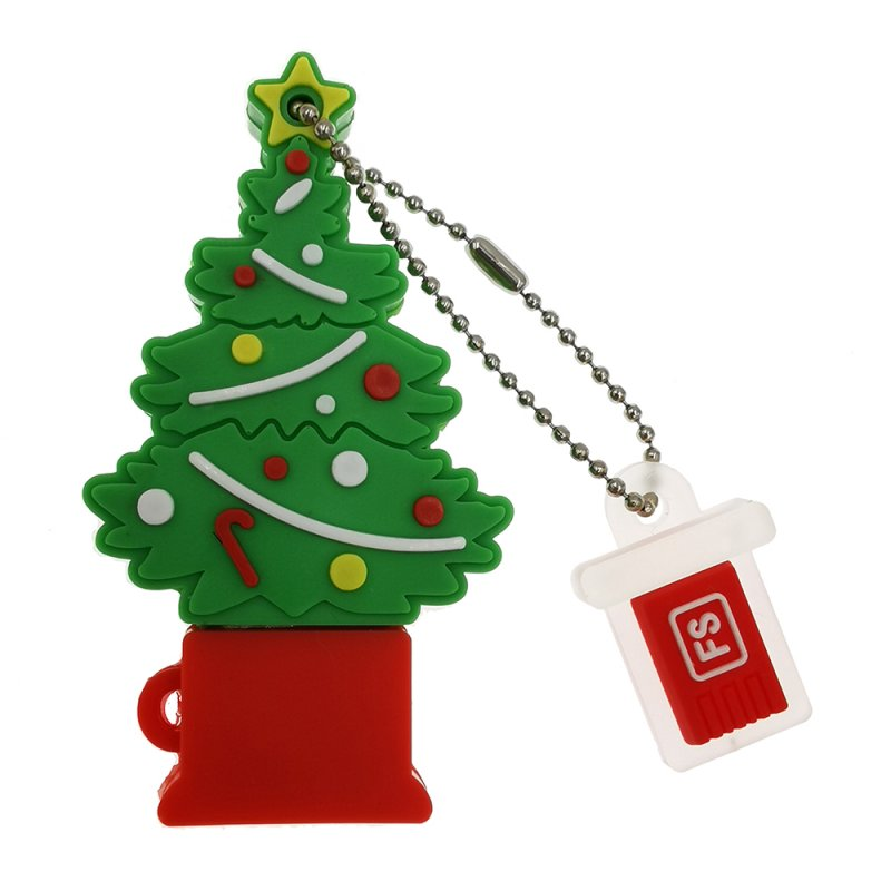 Christmas Tree Waterproof U DISK Green 64GB