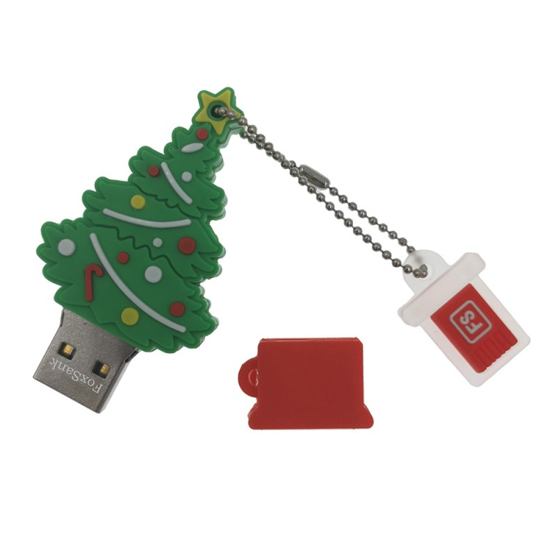 Christmas Tree Waterproof U DISK Green 128GB