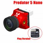 Foxeer Predator V5 Nano Full Case Racing FPV 1000TVL Camera Switchable Super WDR OSD 4ms Latency Upgraded Red interface version