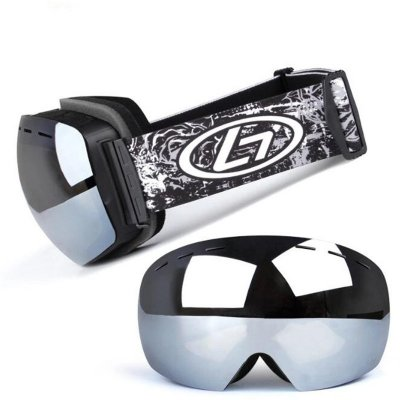 Frameless Snowmobile Goggles Anti Fog UV Doub