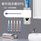 Free Drilling Hanging Rack Home Multifunctional UV Sterilizer for Toothbrush white U S  regulations
