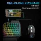 Free Wolf G11 Gaming Keyboard One Hand Throne Keyboard Converter Bluetooth4 2 With Game Conversion Universal Adapter for Android and IOS Devices black