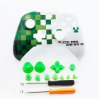Front Top Up Shell Case Housing Face Plate for Xbox One S Controller Game Cover  Green world