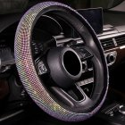 Full Crystal Steering Wheel Cover Rhinestone Diamond Car Steering Wheel Covers Car Styling Auto Accessories Set Colorful diamond