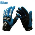 Motorcycle Leather Gloves blue XL