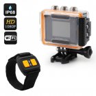 Full HD 1080p Sports action Camera with a 2 Megapixel CMOS Sensor and 170 degree wide angle lens housed in a IP68 case