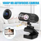 Full Hd 1080p 5 Million Pixel Camera Portable Rotation Angle Adjustable Camera Built-in Mic black
