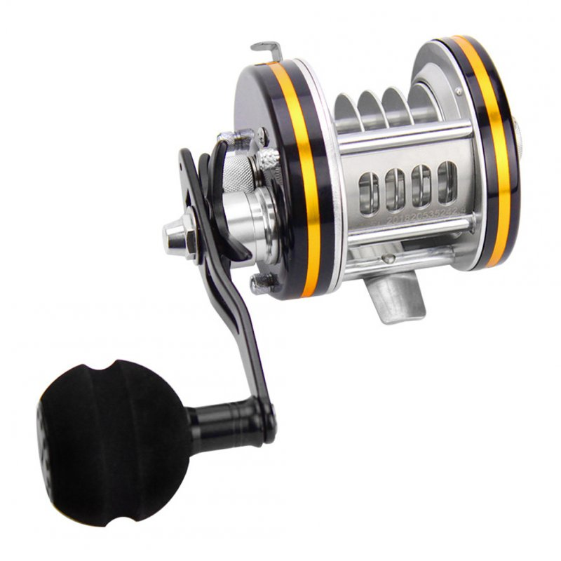 Full Metal Drum Reels Casting Large Model Big Fish Trolling Reel Deep Sea Iron 3/4/5/6/8/10 holes Ice Fishing Reel 4-hole anchor fish wheel (MY-4K)