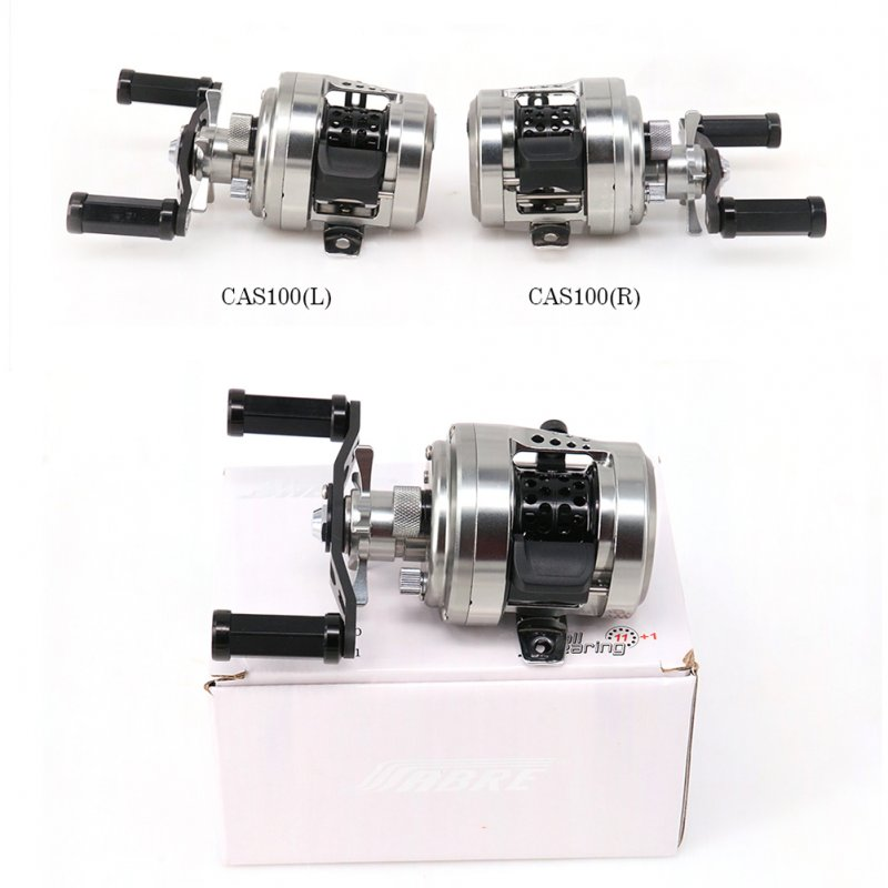 Full Metal Fishing Reel Drum Reel Bait Casting Trolling Lure Reel 11+1 Bearings CAS Spool Carbon Handle CAS100 (right)