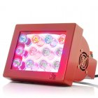 Full Spectrum LED Grow Light with 12 color changing 36 Watt LEDs  3Watt LED chipset and remote controlled color spectrum