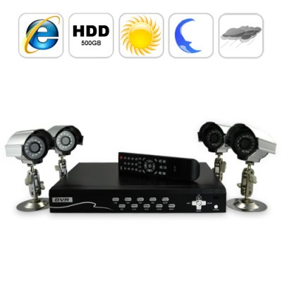 Security Camera DVR Kit (4 Camera + Recorder)