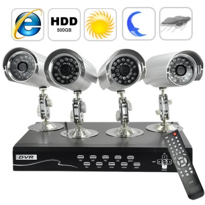 Security Camera + DVR Kit - 4 Cameras
