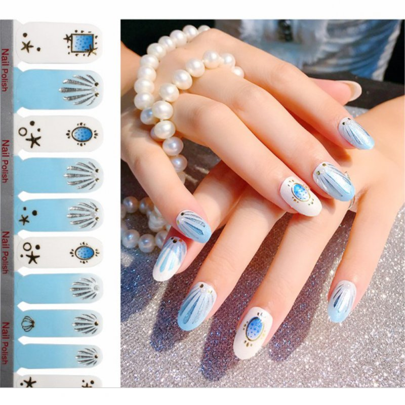 Full Wraps Shinning Nail Stickers Decals DIY Nail Art Stickers for 20 Fingers Normal specifications_#23