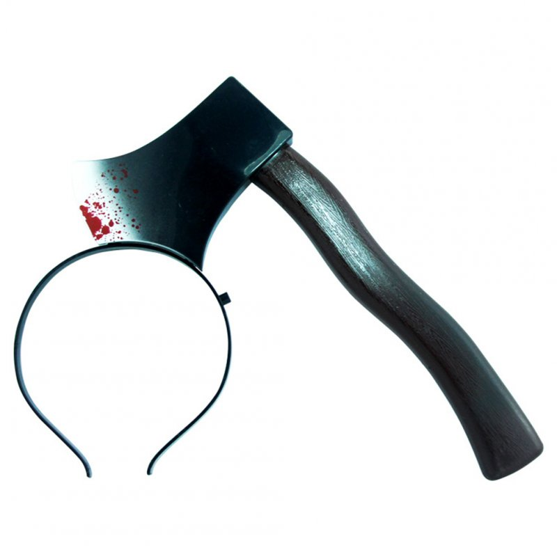 Funny Scary Hair Hoop Halloween Perform Props Axe Saw Nail Knife Headwear Fake Blood Scene Halloween Props