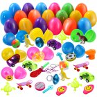 FunsLane 36Pcs Filled Easter Eggs Prefilled Easter Eggs Set Filled with Novelty ToyCL9T
