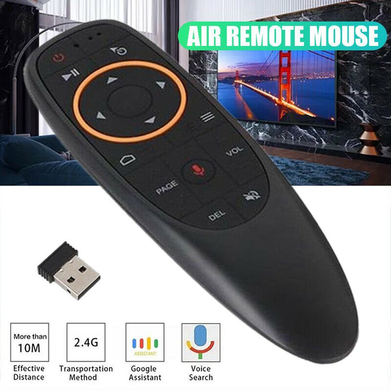 G10S ABS + Silicone Button 2.4GHz Wireless Voice Remote Control for Smart TV PC 2.4G + Voice Edition
