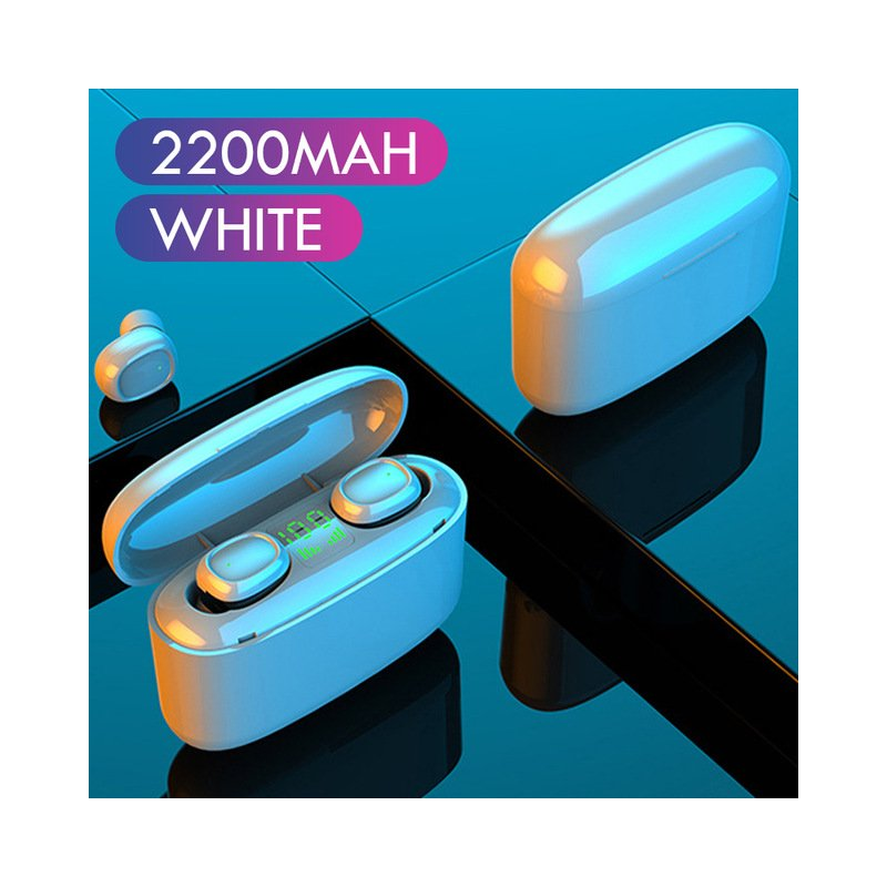G5S Plastic TWS Bluetooth 5.0 Headset Touch Button Micro USB HD Calls Earphone white
