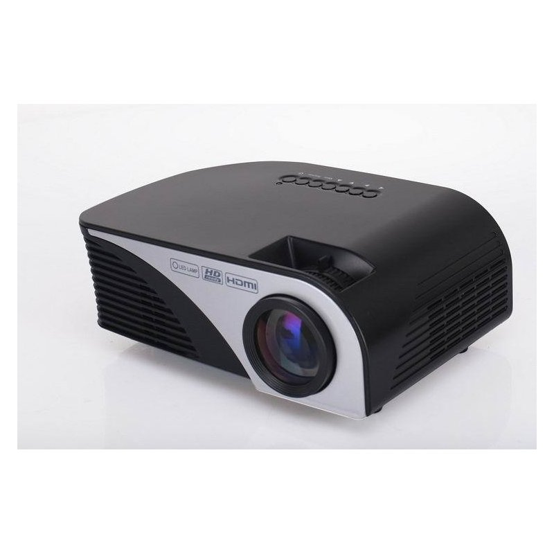 G8005B Mini Projector LED Beamer Home Cinema Projector Theater Projectors for Home Use Eaducation LCD TFT display System black_European regulations