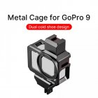 G9-5 Camera Cage Anti-fall Double Cold Shoe Mount Sports Camera Accessories for Gopro9  black