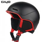 GIYO Safety Winter Outdoor Sports Warm Snowboard Ski Helmets Light Integrally molded Skate Helmet black One size