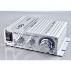 2024A Digital Audio Amplifier Power AMP Hi-Fi Home Stereo Class-T Car DIY Player 2CH RMS 20W BASS For MP3 MP4 iPod Digital Amplifier white_2024A+ British standard 3A power supply