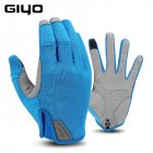 GIYO Winter Cycling Gloves Fishing Gym Bike Gloves MTB Full Finger Cycling Gloves For Bicycle blue_L