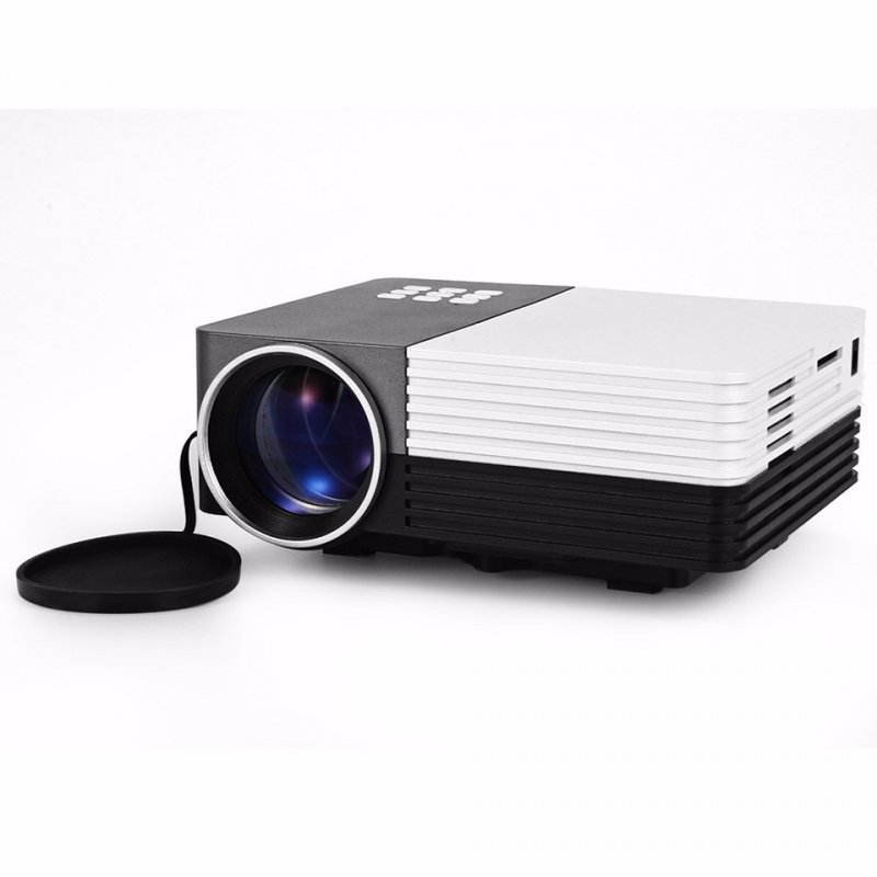 GM50 LED Mini Projector Video AV/USB/SD/VGA HDMI Portable Home Theatre with Remote Control Black_EU plug