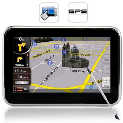 4.3 Inch GPS and Multimedia Player
