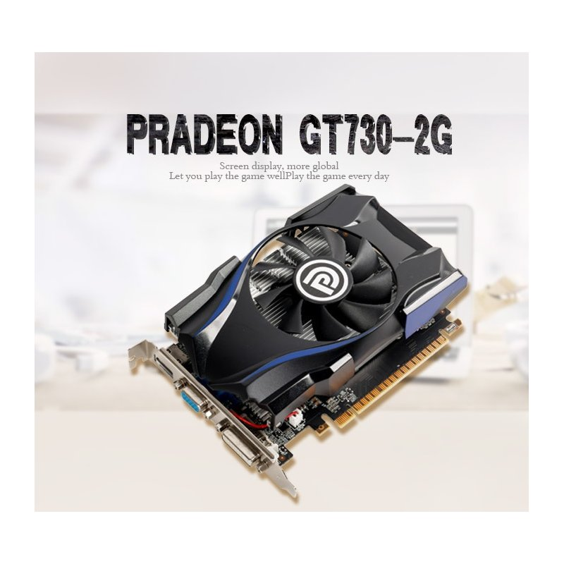 GT730 Video Card 2G PCI Express 2.0 Graphics Cards Slot 2G
