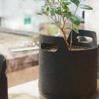 Gallon Black Fabric Aeration Grow Pots Breathable Planter Container Bags Vegetable Plant Growth Bag Black_3Gallon(25D*22H)