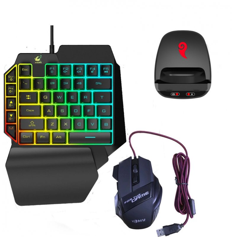 Game Adapter With 4 Modes - Wired Bluetooth Playing PUBG, Call Of Duty Converter + keyboard and mouse