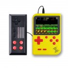 Game Console Retro Designed Handheld Classic PSP Double Players Built in 500 Games Yellow