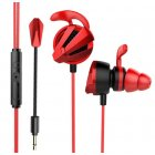 Game Earphone Notebook Laptop Tablet PC Movie Headset Game Box Earphone With Dismountable Mic Arm Handle red
