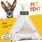Game House Foldable White Dog Cat Tent with Sleeping Mat for Indoor Outdoor Pet Travel Supplies