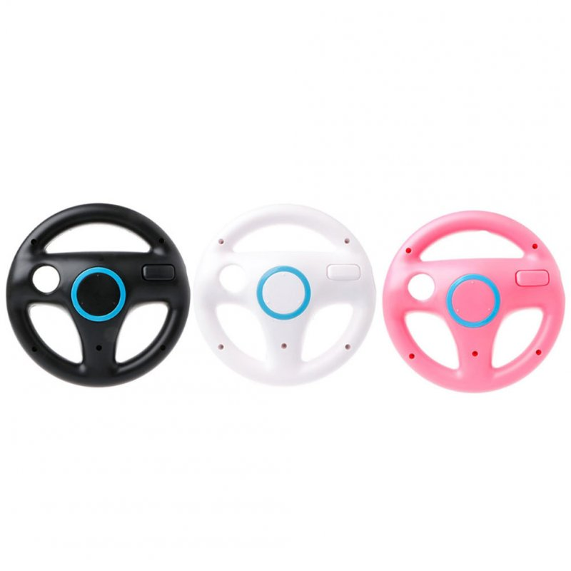 Game Steering Wheel Wii Handle Steering Wheel for Wii Games White