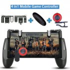 Gamepad for Knives Out PUBG Mobile Phone Shoot Game Controller L1R1 Shooter Trigger Fire Button 3 in 1 for iOS Android