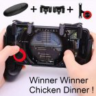 Gamepad for Knives Out PUBG Mobile Phone Shoot Game Controller L1R1 Shooter Trigger Fire Button 3 in 1 for iOS Android As shown