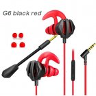 Gaming Earphone For Pubg PS4 CSGO Casque Games Headset With Mic Volume Control PC Gamer Earphones Black red