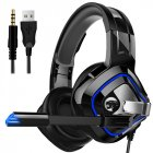 Gaming Headphone Stereo Anti-noise Headset Heavy Bass for PC Laptop Phone A66 black breathing light single plug version
