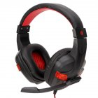 Gaming Headset Deep Bass Stereo Computer Game Headphones with Microphone LED Light red light