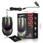 Gaming Mouse J500 Display Wired Macro Programming Multiple Languages Personalized Setting Gaming Mouse J500