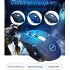 Gaming Mouse USB Computer Mouse Silent Ergonomic Mouse Gamer Noiseless Mice For PC Laptop black