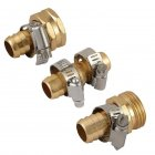 Garden Water Pipe Copper Joint Set Watering Hose Fittings Triple connector set