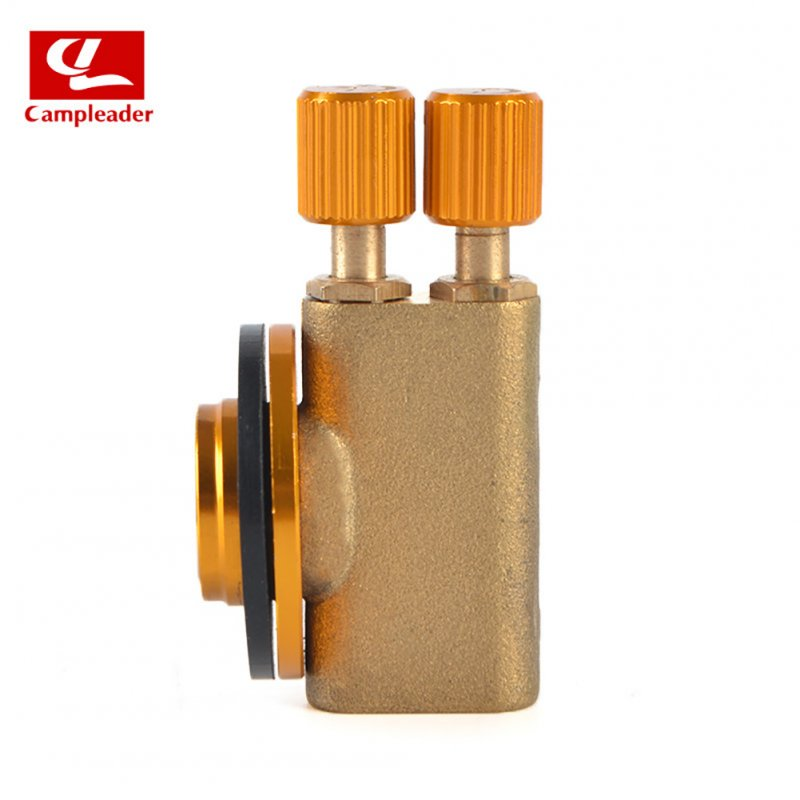 Gas Burner Camping Gas Stove Safety Switch Double Head Inflatable Valve Adapter for Flat Liquefied Gas Cylinder Flat gas double head valve