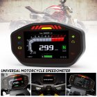 General Motorcycle LCD TFT Digital Speedometer 14000RPM 6 Gear Backlit Motorcycle Odometer for 2 4 Cylinder