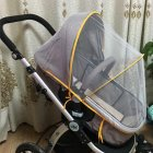 General Summer Baby Stroller Thickened Bracket Mosquito Net   Yellow bracket_Trolley umbrella general