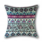 Geometric Ethnic Style Linen Throw Pillow Cover for Sofa Decoration