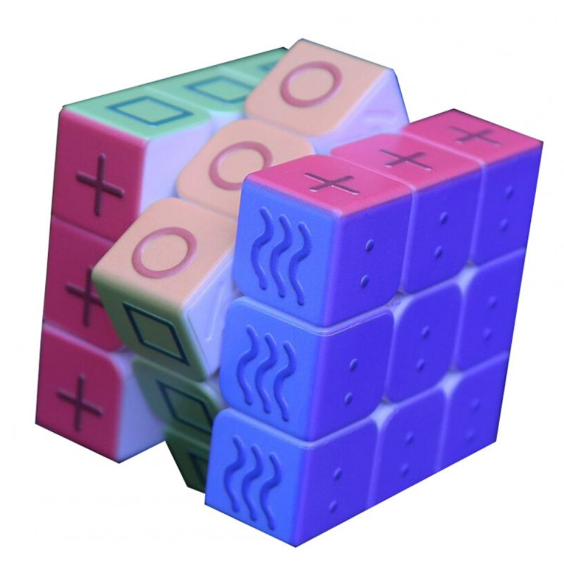 Geometry Magic Cube 3x3x3 Blind Braille Fingerprint Speed Puzzle Cube 3D Relief Educational Toys for Children