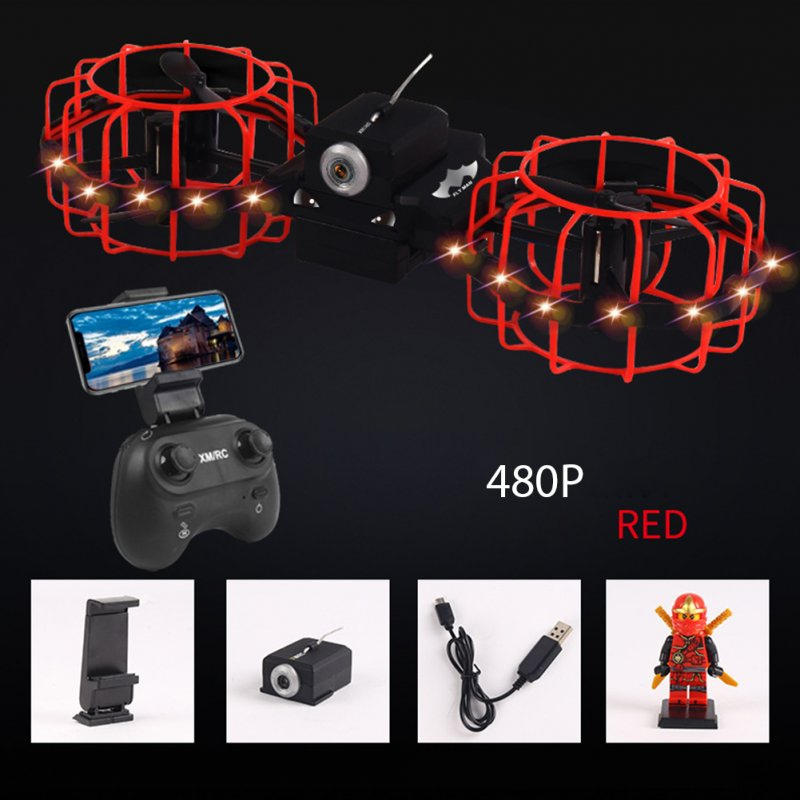 Gesture Remote Control Quadcopter Real-time Aerial Mobile Phone Remote Control Tumbling Fixed High Combat Drone Red 480P aerial version