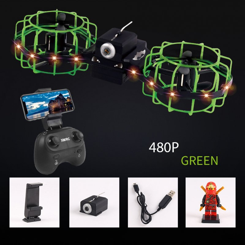 Gesture Remote Control Quadcopter Real-time Aerial Mobile Phone Remote Control Tumbling Fixed High Combat Drone Green 480P aerial version